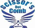 scissors dot comb - logo