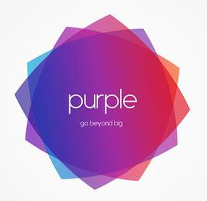 purple ad media - logo