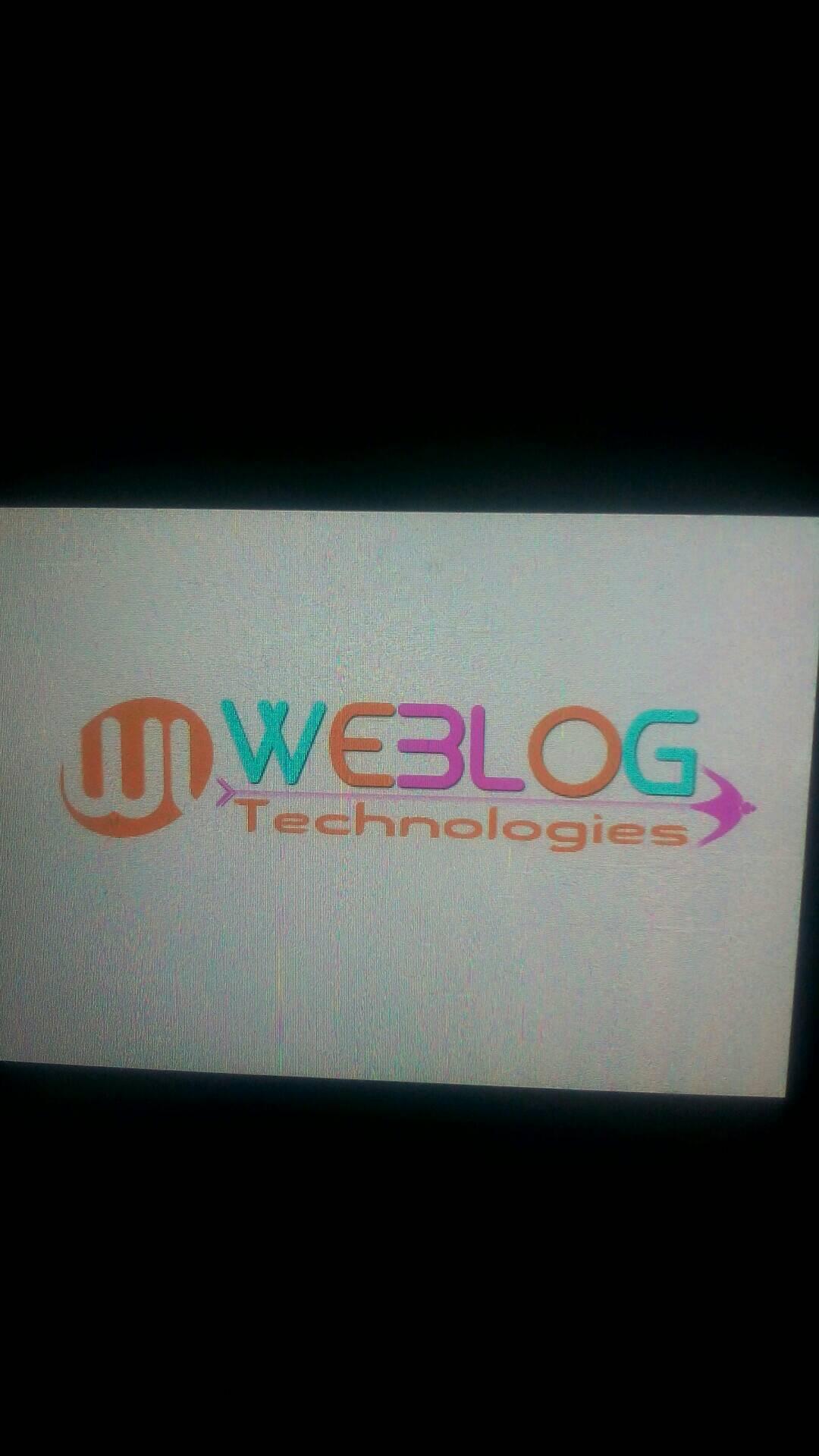 WebLog Technologies 9865828680 - logo