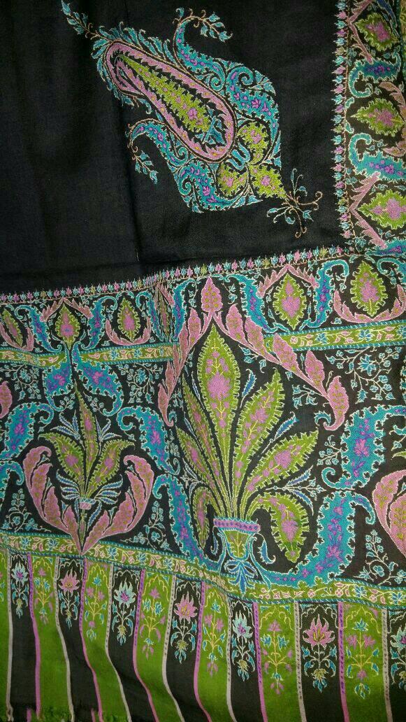 antiq jamawar shawl - logo
