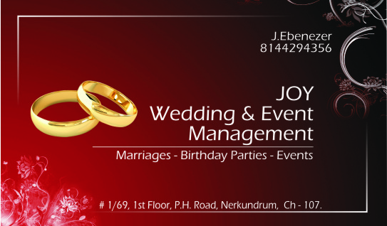 Joy Wedding & Event Management - logo