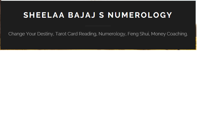 sheelaaSBajaj - Best Numerologist and Tarot Card Reader in Delhi