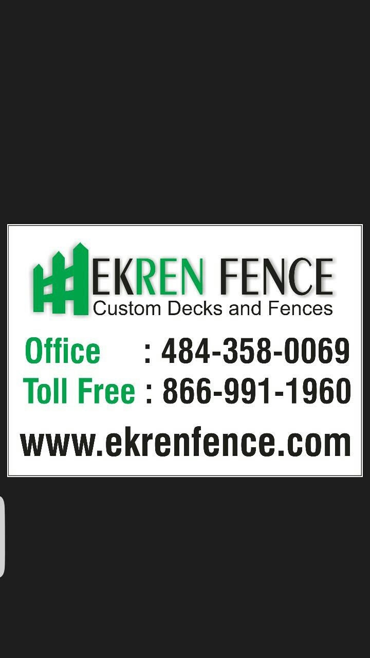 EKREN FENCE LLC - logo