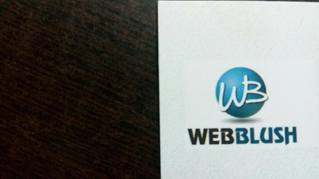 Webblush - logo