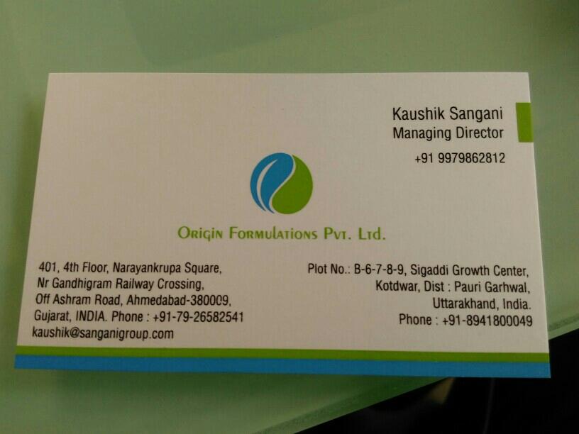 Origin Formulation Pvt Ltd - logo