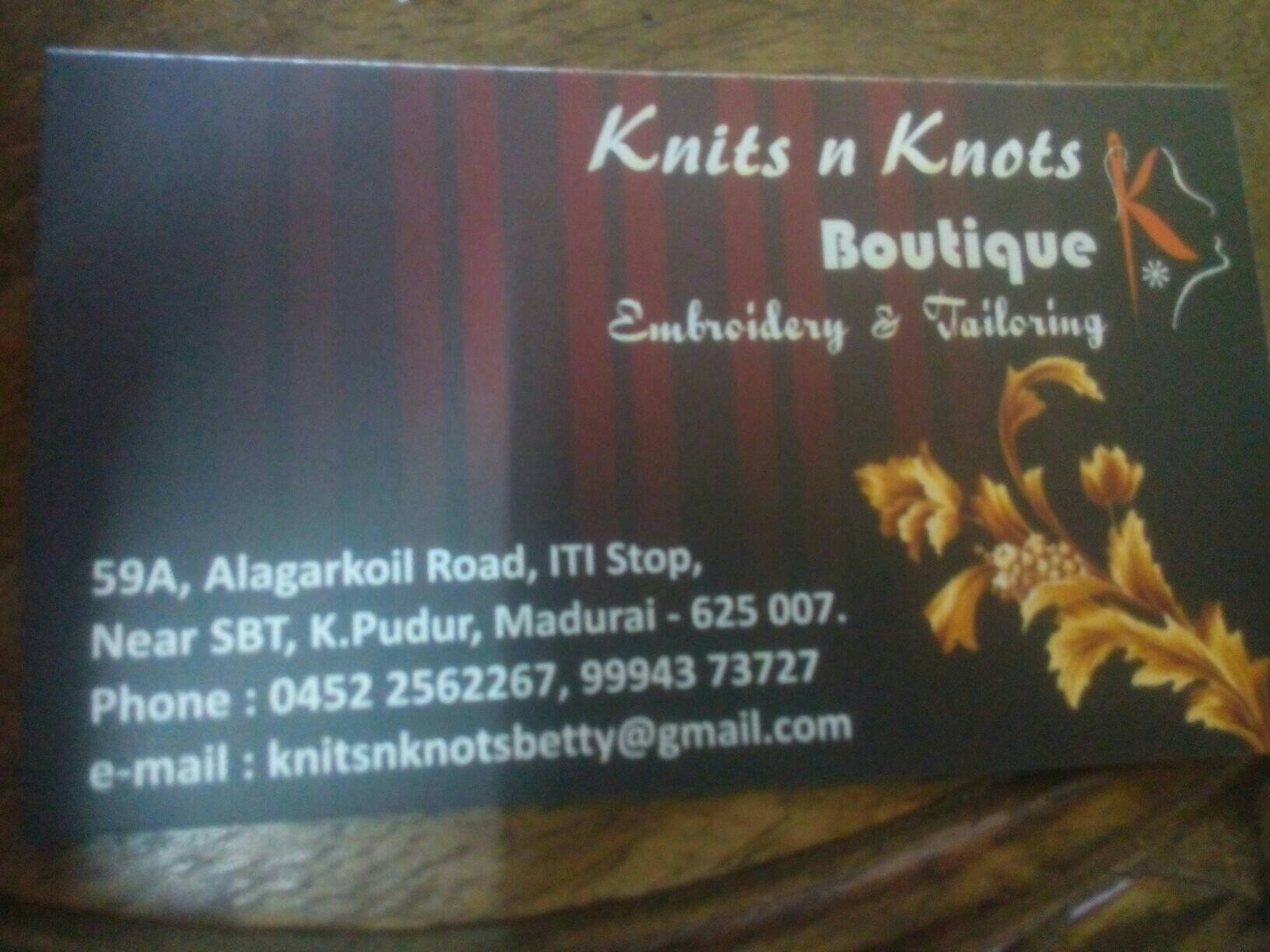 Knits n knots boutique 9994373727 - logo
