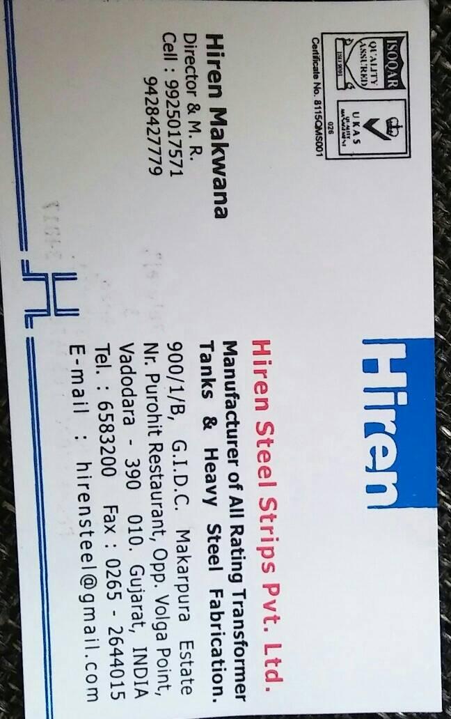 Hiren Steel Strips Pvt. Ltd.