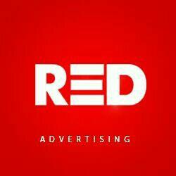 red advertising - logo
