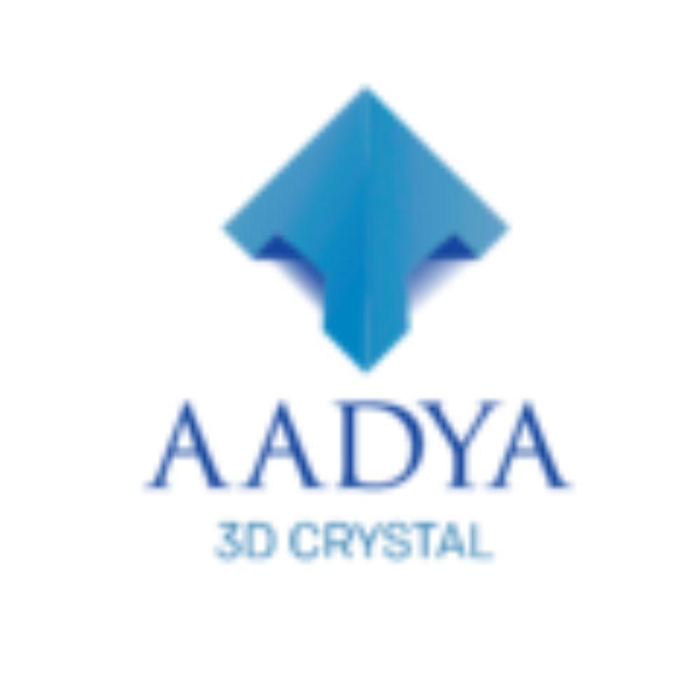 AADYA 3D CRYSTAL - logo