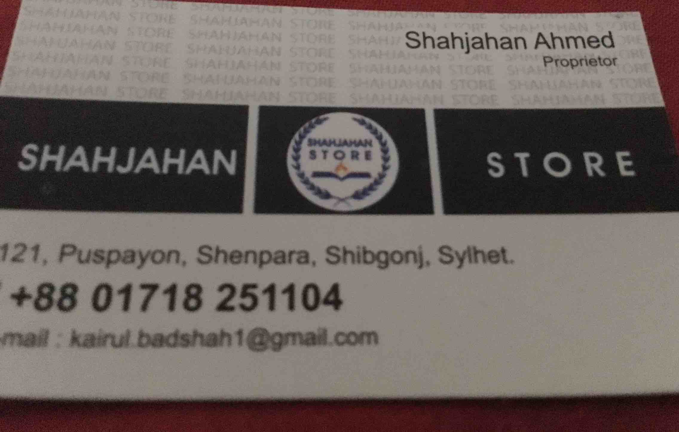 Shahjahan store